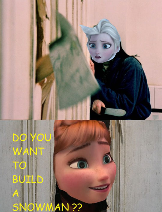 funny-Shinning-Anna-Frozen-snowman
